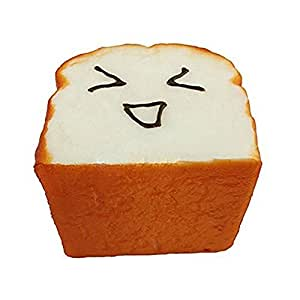 Generic Kawaii Toast Squishy Expression Card Cellphone Holder Charm Hand Pillow Toy Pack of 1