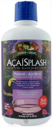 Garden Greens AcaiSplash Energizing Mixed Berry Drink, 32 Ounce by Garden Greens