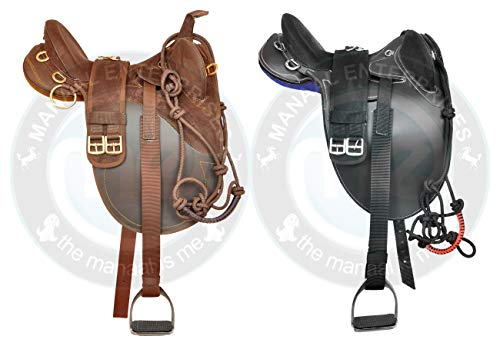 Stock Australian Saddle - Manaal Enterprises Synthetic Suede Australian Stock Saddle Tack & Accessories Size- 14