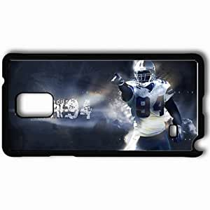 Personalized Samsung Note 4 Cell phone Case/Cover Skin 14335 demarcus ware by garrfoster d4bv9fz Black by lolosakes