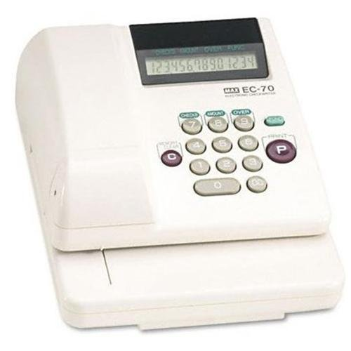 Max EC-70 Max Model EC-70 Electronic Checkwriter - 14-Digit - 7-7 8w x 9-5 8d x 3-5 8h