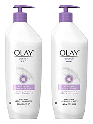 Olay Quench Body Lotion Shimmer With Vitamins E & B3
