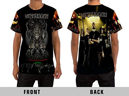 Demonic Meshuggah Extreme Metal Rock Band All Over Sublimation Print (XX-Large, T-Shirt)