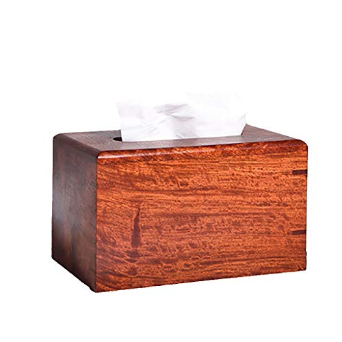 Burmese Rosewood Tray Paper Table Solid Wood Tissue Box Mahogany Coffee Table Large Fruit Rosewood Napkin Box Storage Box GAOLIANGLIANG (Size : A)