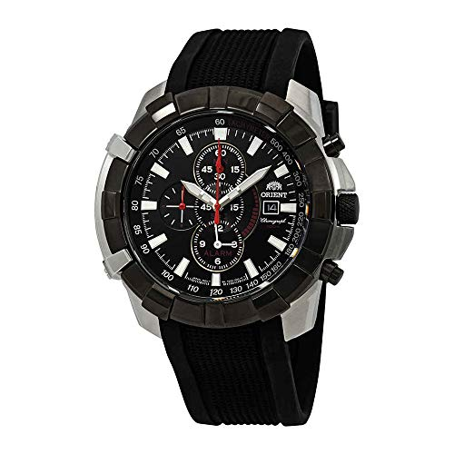 (Orient Classic Alarm Chronograph Black Dial Mens Watch FTD10003B)