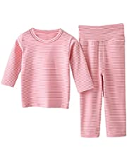 Ailee Hoho Baby Girls Boys Thermal Underwear Set Toddler Kids Warm Long Johns Layette Sets for Winter Skiing