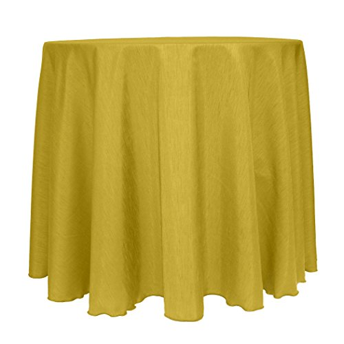 Ultimate Textile (10 Pack) Reversible Shantung Satin - Majestic 108-Inch Round Tablecloth - for Weddings, Home Parties and Special Event use, Gold