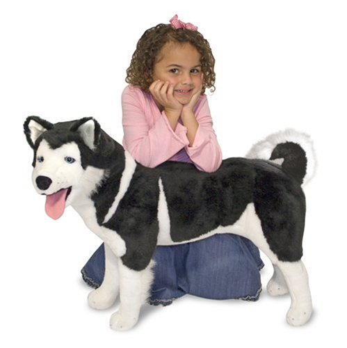 Stuffed Husky (Melissa & Doug Giant Siberian Husky - Lifelike Stuffed Animal Dog (over 2 feet tall))