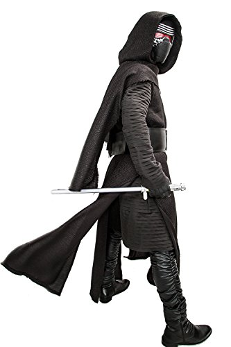 XCOSER Kylo Ren Outfit Costumes With Mask Sleeveless Robe with Detachable Hood Kylo Ren Cosplay 2016(XXL) by XCOSTUME®