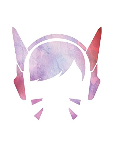 overwatch-poster-dva-portrait-home-print-watercolor-wall-decor-gamer