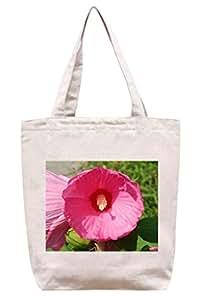Brillante color rosa flores–lona de algodón Tote Bag