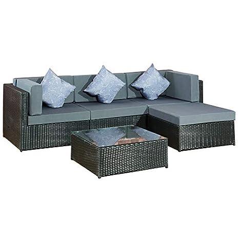 Jet-Line - Conjunto de muebles de jardín de polirratán ...