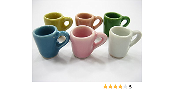 6pcs Mini Coffee Cup Miniature Dollhouse Food Drink Home Tableware Dec/_JN