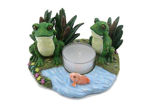 Poly Resin Frog Tea Light Holder