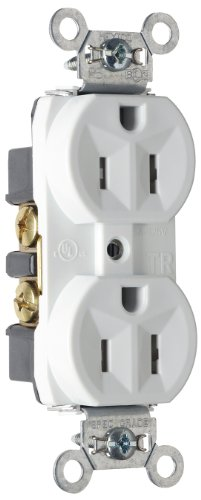 Legrand - Pass & Seymour TR5262WCP6 Tamper Resistant Duplex Receptacle, Back and Side Wire, 15-Amp/125-volt, White, 10-Pack