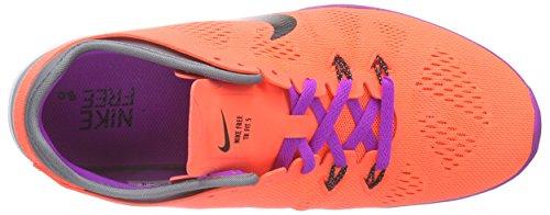 Nike Free TR 5.0 Fit 5 - Zapatillas Mujer Naranja - Orange (Hypr Orng/Blk-Cl Gry-Vvd Prpl 801)