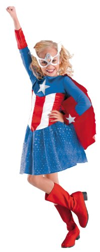 [Disguise Costumes captain america girls costume] (Captain America Costume Girl)