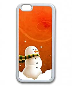 Iphone 6 TPU Supple Shell Case Christmas Snowman White Skin by Sallylotus by runtopwell