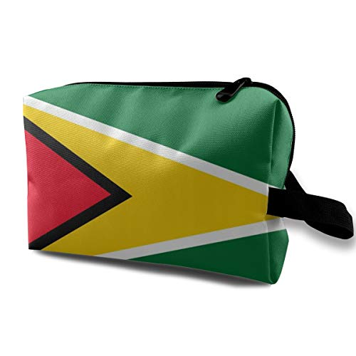 - Flag Of Guyana Storage Bag Women Cosmetic Train Case Organizer - Multi-Purpose Clutch Bag Pencils Holder, Makeup Pouch for Makeup Brushes Eyebrow Pencil Eyeliner