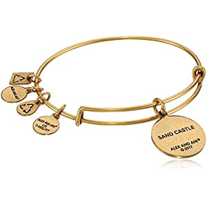 Alex and Ani Charity By Design, Sand Castle EWB Rafaelian Gold Bangle Bracelet