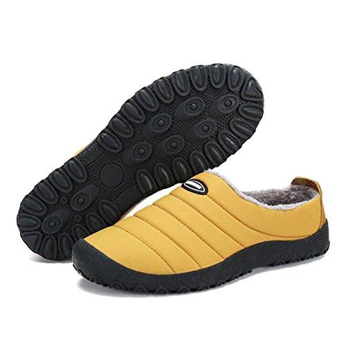 Sur Maison Plein Chaud Neige Hibote Basse Hiver en Fluffy Femmes Chaussures Slip Air Étanche Pantoufles Doublé Hommes Chaussure Top 6n4Ip0nF