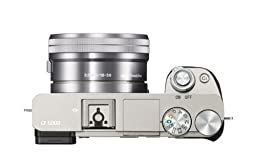 Sony Alpha ILCE6000L/S 24.3MP Mirrorless Digital Camera 4x 3.0 inch wide type TFT LCD (Silver)