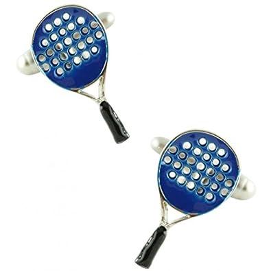 MasGemelos - Gemelos Raqueta Padel Azul Cufflinks: Amazon.es: Joyería