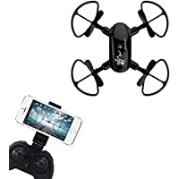 [D10WHD Drone] Mini D10WH Foldable With Wifi FPV HD Camera 2.4G 6-Axis RC Quadcopter (Black)