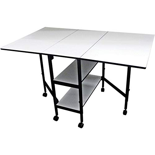 Sullivans 38431 Home Hobby Adjustable Height Foldable Table, 59 x 35.8 ()