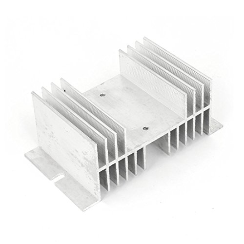 uxcell 126mm x 70mm x 50mm Aluminum Heat Solid State Relay Heatsink Cooler by uxcell