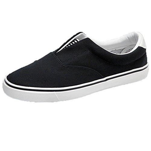 scarpe scarpe uomo tela uomo indietro pedali da scarpe di pigri uomo Tirare da stoffa Nero casual scarpe di uomo scarpe sportive WFL da scarpe da paio 87zExqw
