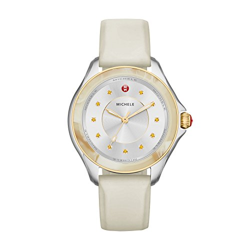 e' Quartz Stainless Steel and Silicone Casual Watch, Color:Beige (Model: MWW27A000033) (10 Atm Water)