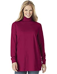 Women's Plus Size Perfect Cotton Turtleneck