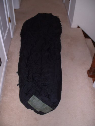 -10f Us Military Modular Intermediate Black Sleeping Bag, Outdoor Stuffs