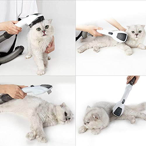 EZ SPARES Grooming and Cleaning Tool,Dog Cat Animal Pet Attachment Massage Handheld Brush Electrostatic Absorption for All 2 Sizes 32mm&35mm Universal Vacuum Cleaner with Instruction Gift