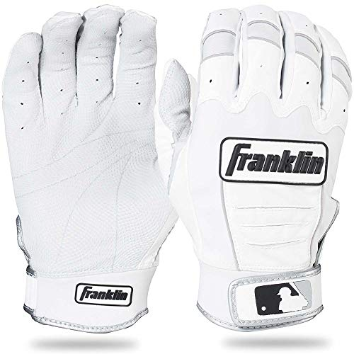 Franklin Sports Adult MLB CFX Pro Batting Gloves, Adult Large, Pair, Pear/White Adult Baseball Batting Gloves
