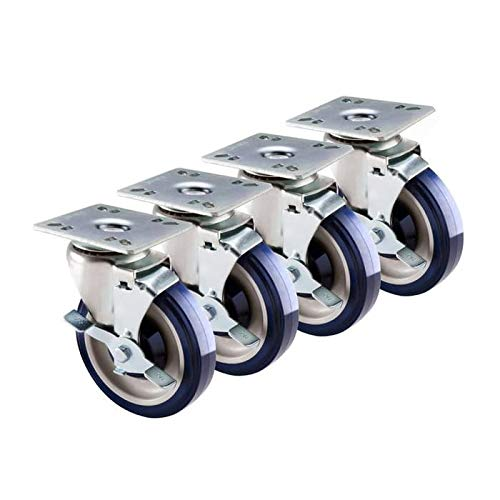 Krowne 30-111S 5'' Economy Series Plate Casters w/ 3.5'' x 3.5'' Plate