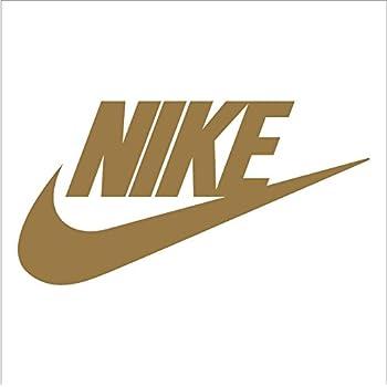 Amazon Nike Swoosh Logo Vinyl Sticker Decal Gold 6 Inch Home