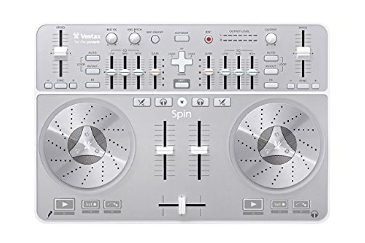 [해외] VESTAX bass다쿠스 MAC전용 오디오 인터페이스 내장 ALGORIDDIM DJAY대응 DJ콘트롤러 스핀 SPIN