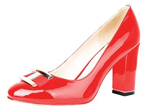B A basso collo VerocaraPump1 Pathent donna Red H 7RIwxqp