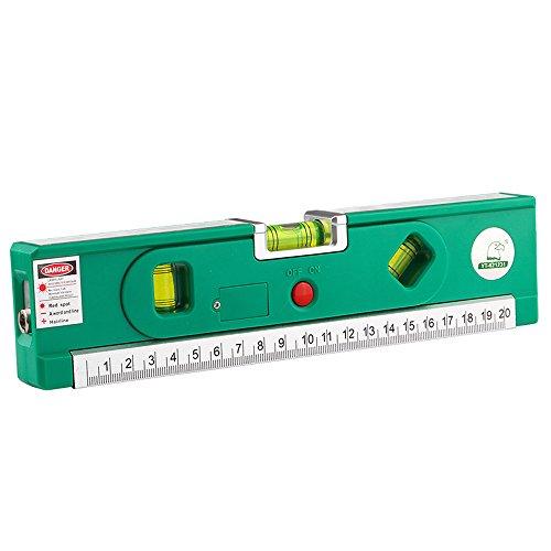 Multipurpose Level Laser,Feleph Tape Measure Ruler Measure Line 8ft+ Adjusted Standard and Metric Rulers Horizontal & Vertical & Cross Line Laser (4in 1 Laser Level)