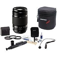 Fujifilm XF 55-200mm (83-300mm) F3.5-4.8 R LM OIS Lens - Bundle With 62mm Filter Kit (UV/CPL/ND2), Soft Lens Case, Cleaning Kit, Capleash II, LensPen Lens Cleaner