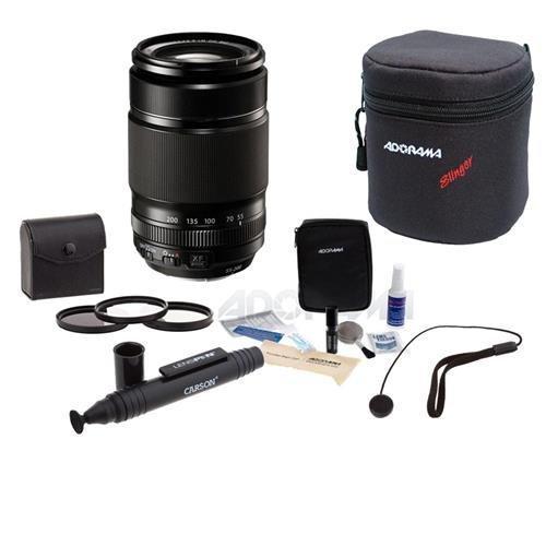 (Fujifilm XF 55-200mm (83-300mm) F3.5-4.8 R LM OIS Lens - Bundle With 62mm Filter Kit (UV/CPL/ND2), Soft Lens Case, Cleaning Kit, Capleash II, LensPen Lens)