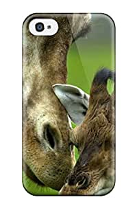 New Style Hot Style Protective Case Cover For Iphone4/4s(giraffes Loving Mother African Animals) 7494617K62966748
