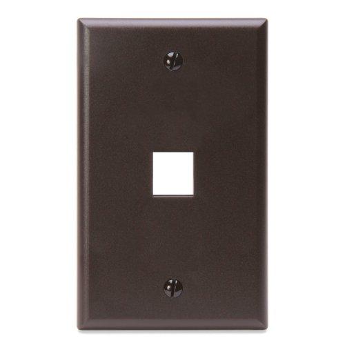 leviton-41080-1bp-quickport-wallplate-single-gang-1-port-brown