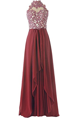Missdressy - Vestido - Escotado por detrás - para mujer Rojo