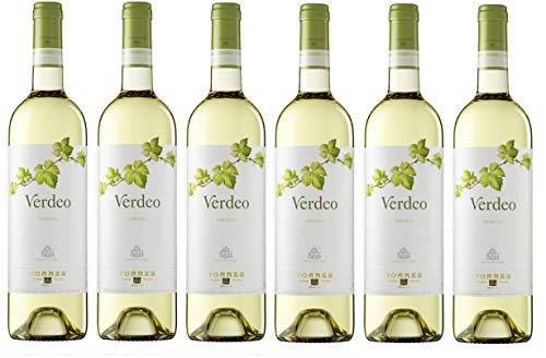 Verdeo Verdejo, Vino Blanco – 6 botellas de 75 cl, Total: 4500 ml