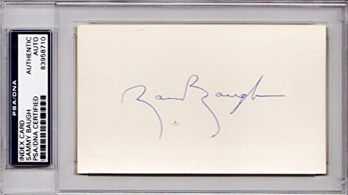 Sammy Baugh Autographed Signed Washington Redskins 3x5 inch Index Card - Pro and College Hall of Fame - Deceased 2008 - PSA/DNA Authenticity (COA) - PSA Slabbed Holder from Sports Collectibles Online