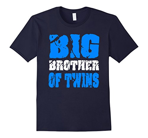 Twin Announcement - Mens Big Brother of Twins Shirt Pregnancy Announcement Small Navy