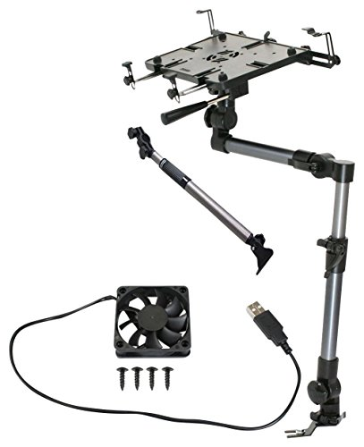 Mobotron MS-526 Heavy-Duty Laptop Mount + Screen Stabilizer+ Cooling Fan+ Supporting Brace